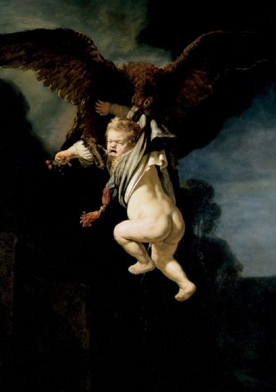 Rembrandt: The Abduction of Ganymede. Fine Art Print/Poster. Sizes: A4/A3/A2/A1 (004297)